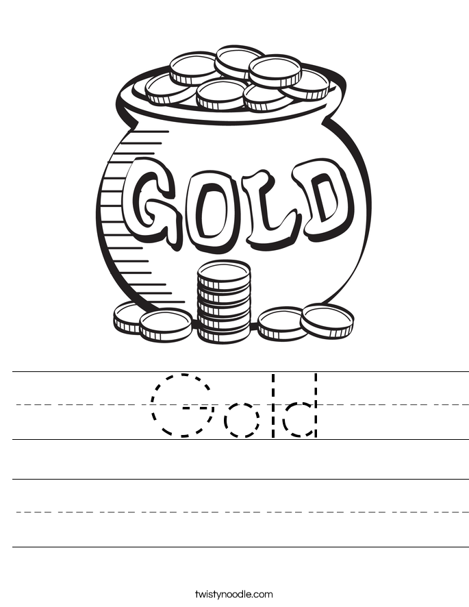 Gold Worksheet