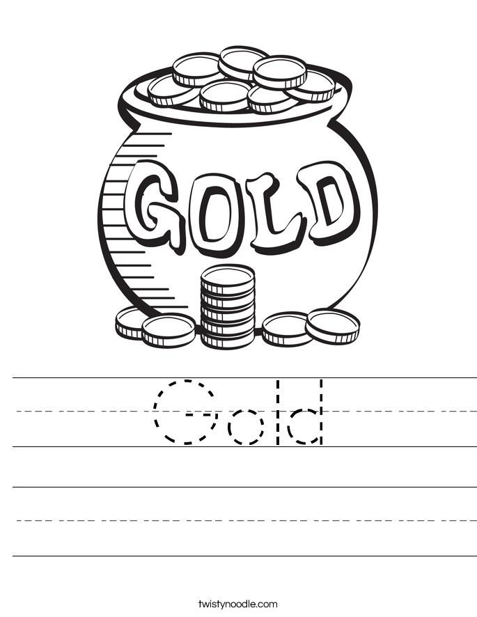 Gold Worksheet