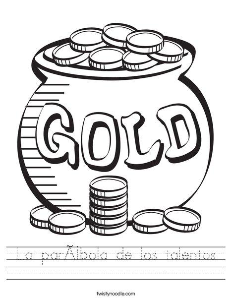 Pot of Gold Worksheet