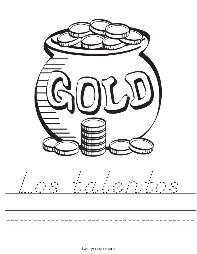 Los talentos Worksheet