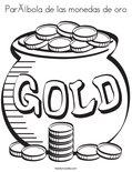 Parábola de las monedas de oroColoring Page