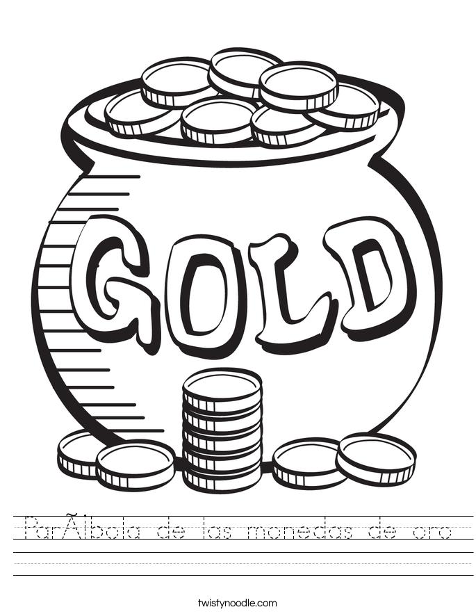 Parábola de las monedas de oro Worksheet