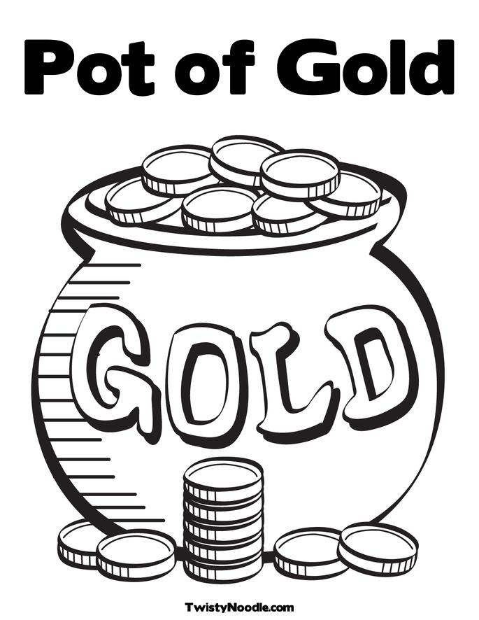 It's just a photo of Inventive Pot of Gold Template Free Printable