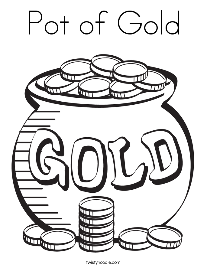 Pot of Gold Coloring Page Twisty Noodle
