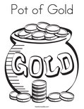 Pot of GoldColoring Page