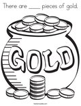 There are ____ pieces of gold.Coloring Page