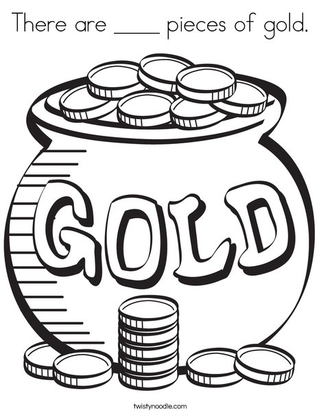 Pot of Gold Coloring Page