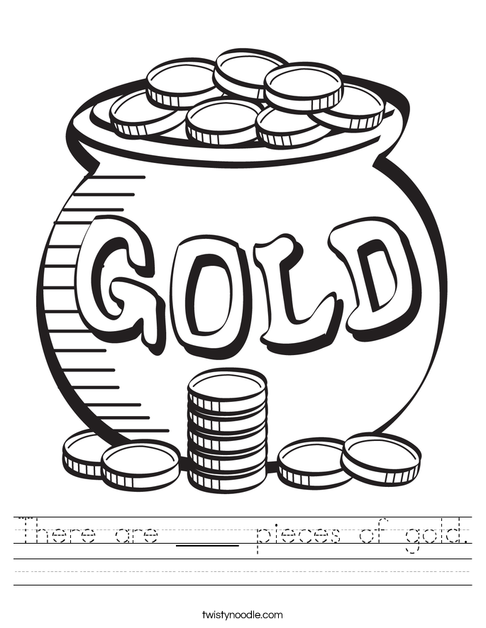 There are ____ pieces of gold. Worksheet