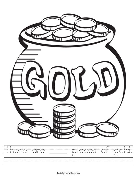 Pot of Gold Worksheet