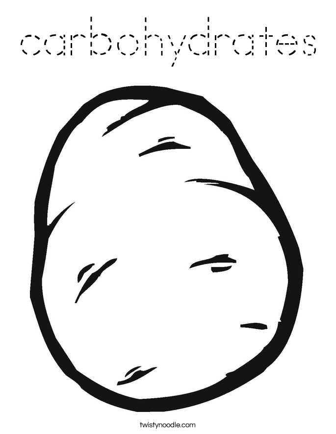 carbohydrates Coloring Page