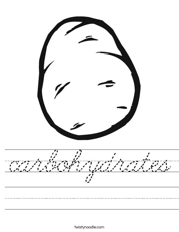 carbohydrates Worksheet