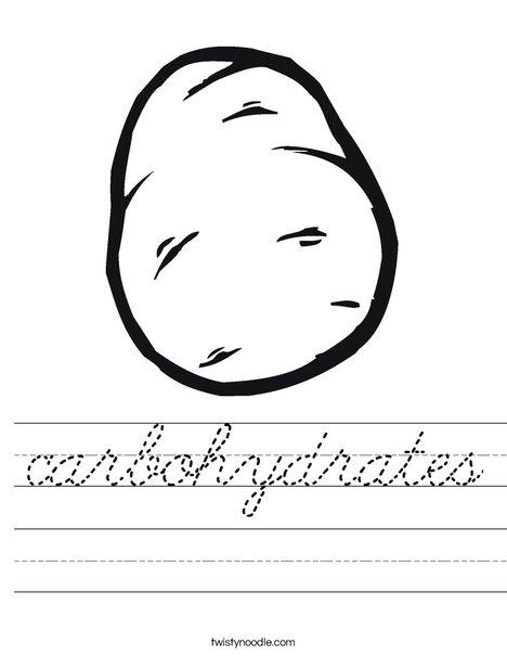 Potato Worksheet