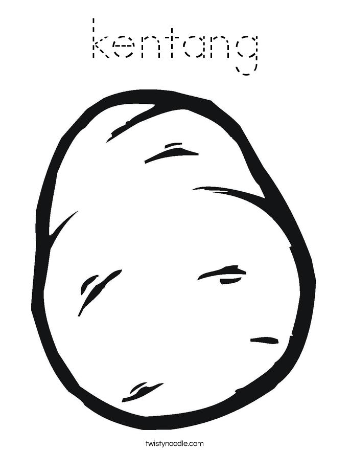 kentang Coloring Page