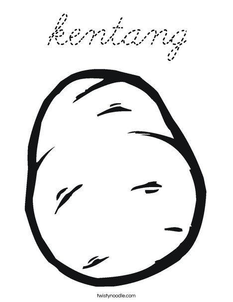 Potato Coloring Page
