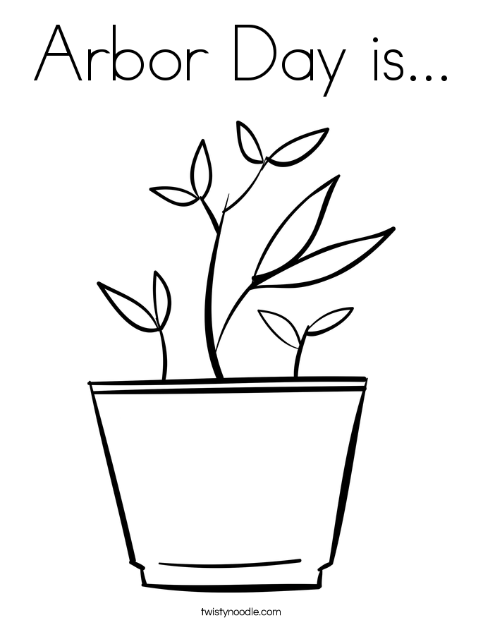 Arbor Day is... Coloring Page