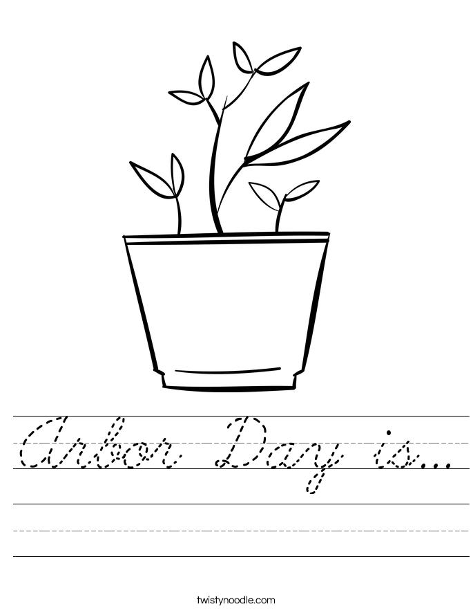 Arbor Day is... Worksheet