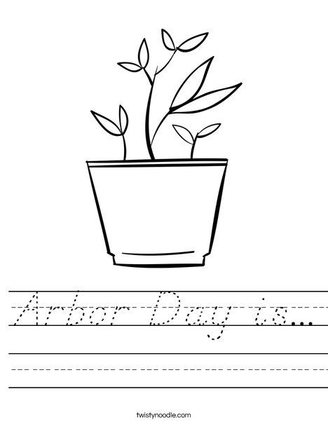 Potted Plant Worksheet