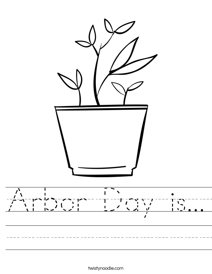 Arbor Day is... Worksheet
