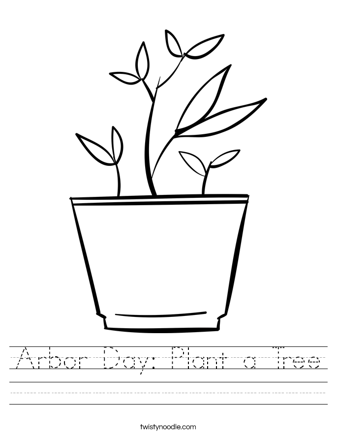 Arbor Day: Plant a Tree Worksheet