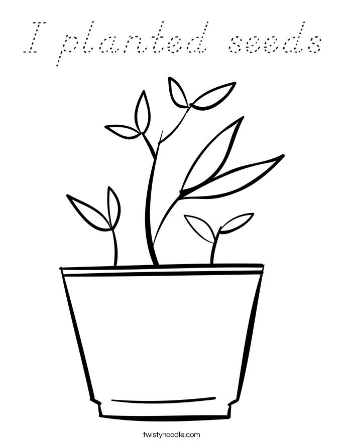 I planted seeds Coloring Page