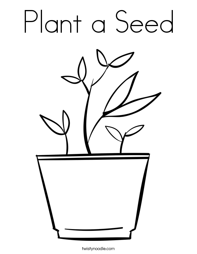 Plant a seed coloring page twisty noodle for Planting seeds coloring pages