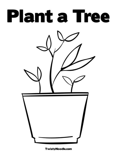 Parts of a plant coloring sheet for Parts of a plant coloring page