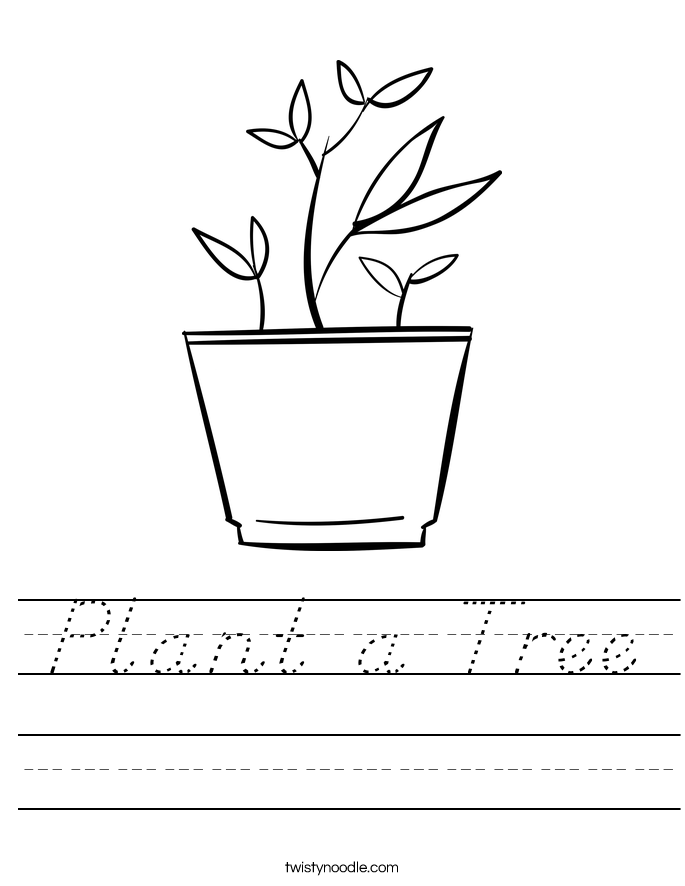 Plant a Tree Worksheet