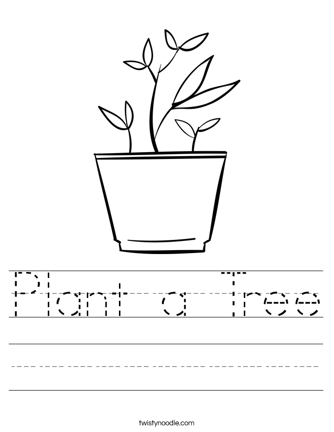 Plant a Tree Worksheet
