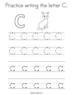 Practice writing the letter C Coloring Page