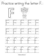 Practice writing the letter F Coloring Page