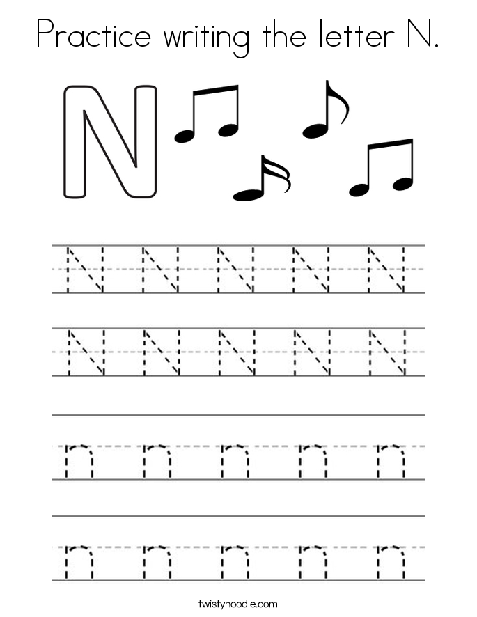 letter n coloring page - People.davidjoel.co