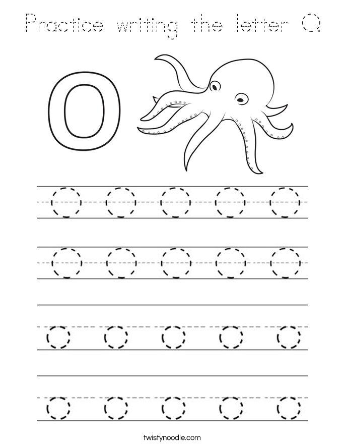 Practice writing the letter O. Coloring Page