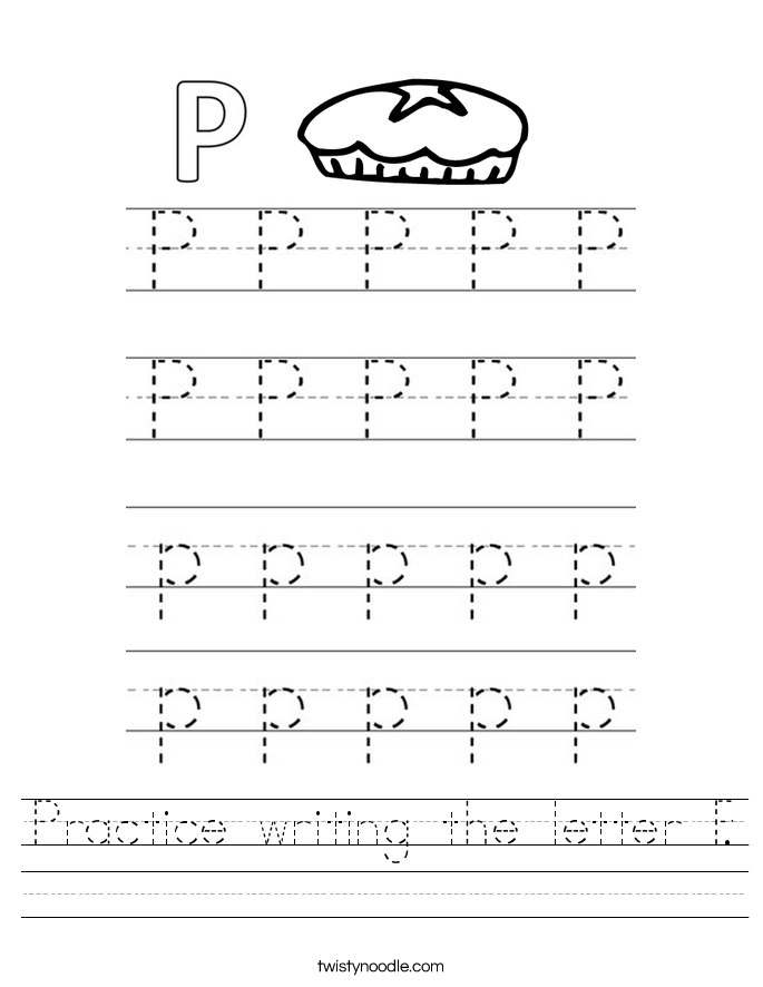 {Letter P Worksheets Twisty Noodle – Letter P Worksheets
