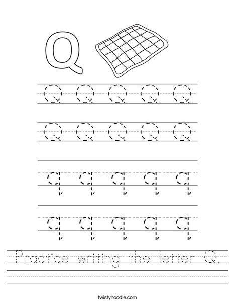Alphabet Letter Hunt: Letter Q Worksheet | MyTeachingStation.com