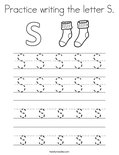 Practice writing the letter S. Coloring Page