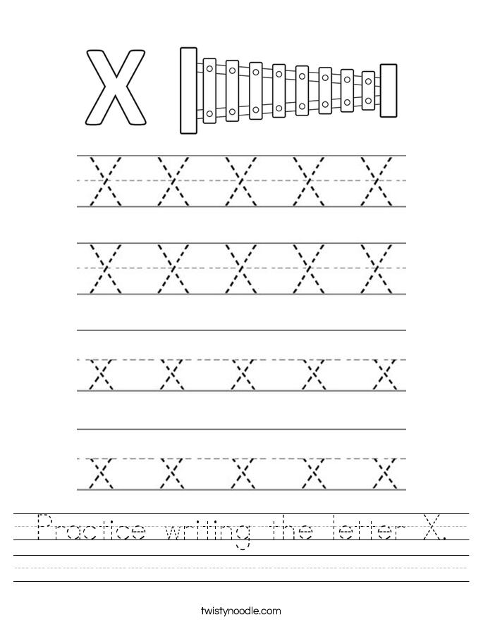 Letter X Worksheets - Twisty Noodle