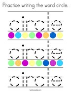 Practice writing the word circle Coloring Page