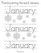 January Coloring Pages Twisty Noodle