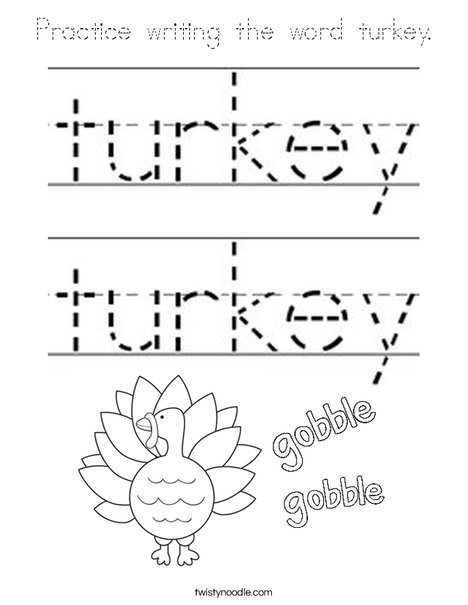 Turkey Coloring Page Outline