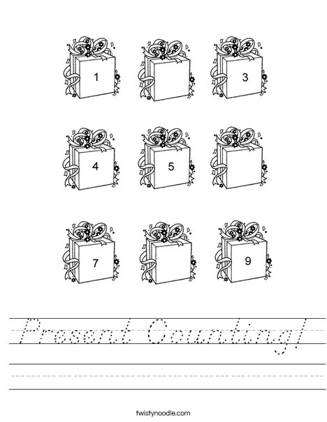 Present Counting Worksheet