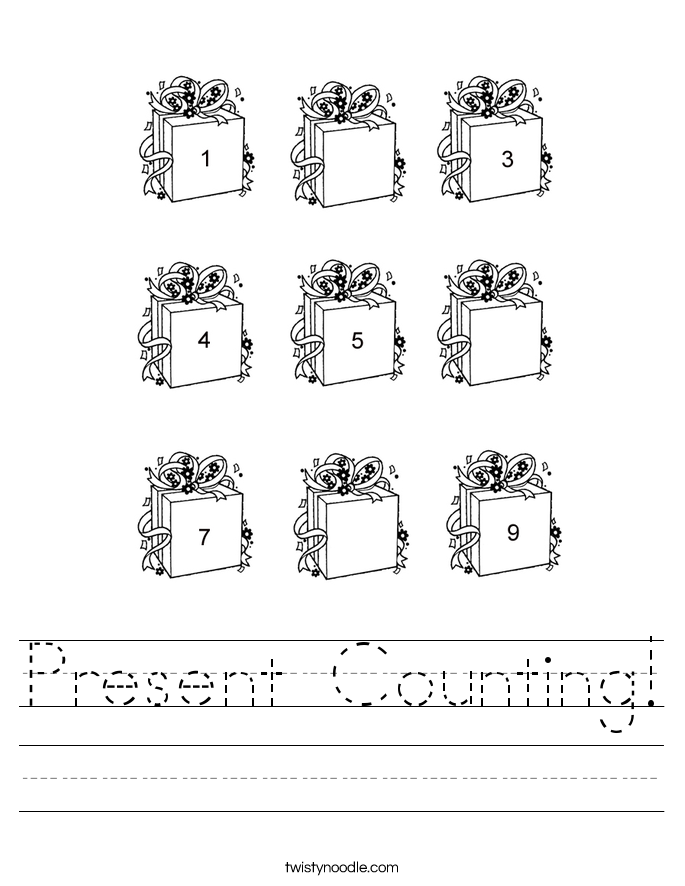 Present Counting! Worksheet