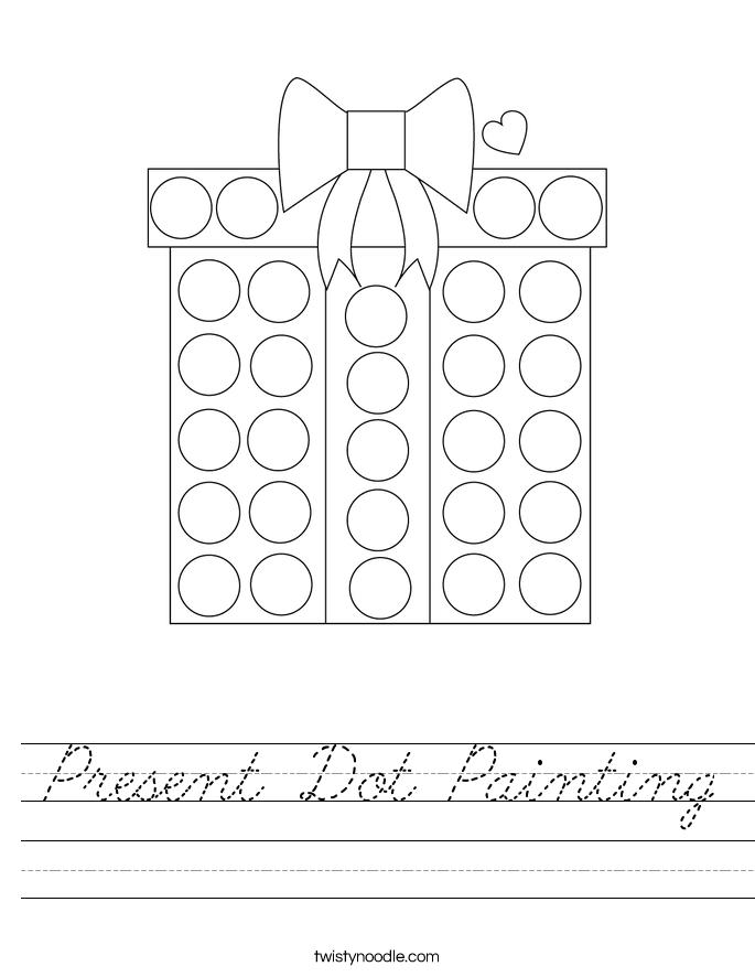 Present Dot Painting Worksheet