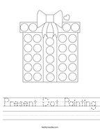 Present Dot Painting Handwriting Sheet