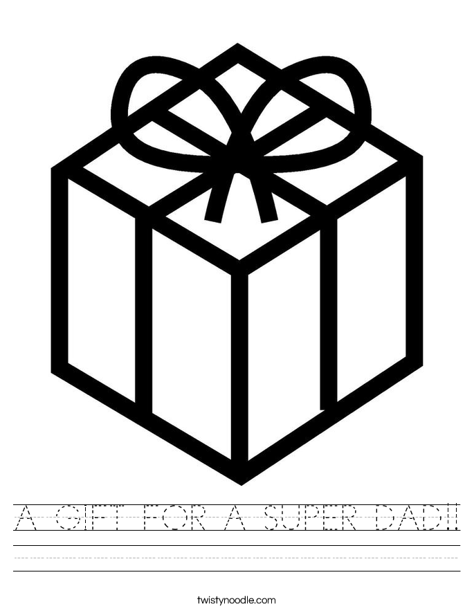 A GIFT FOR A SUPER DAD!! Worksheet