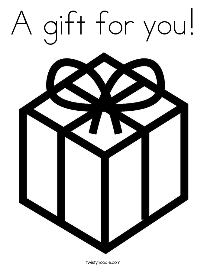 a gift for you coloring page