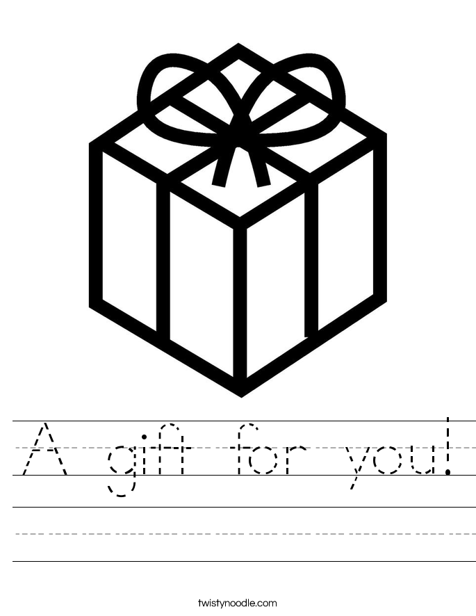 A gift for you! Worksheet