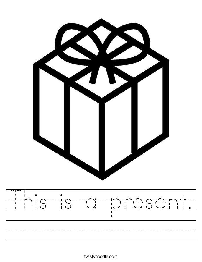 This is a present. Worksheet