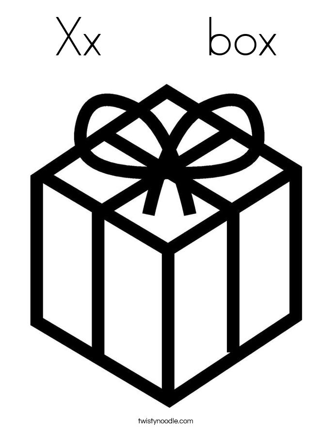 Xx box Coloring Page Twisty Noodle