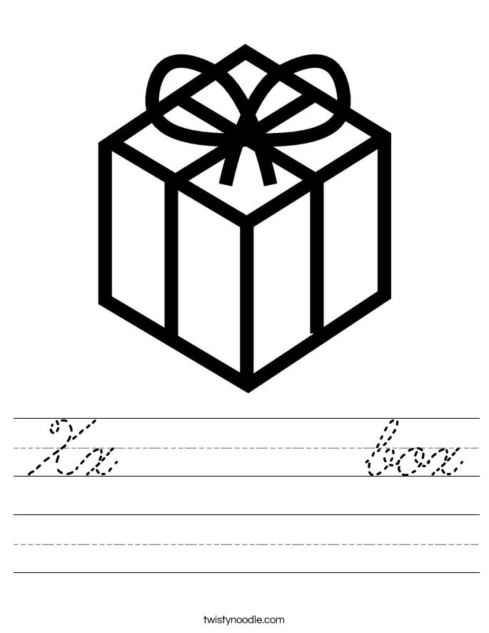 Xx       box Worksheet