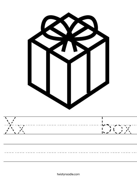 Present with Bow Worksheet